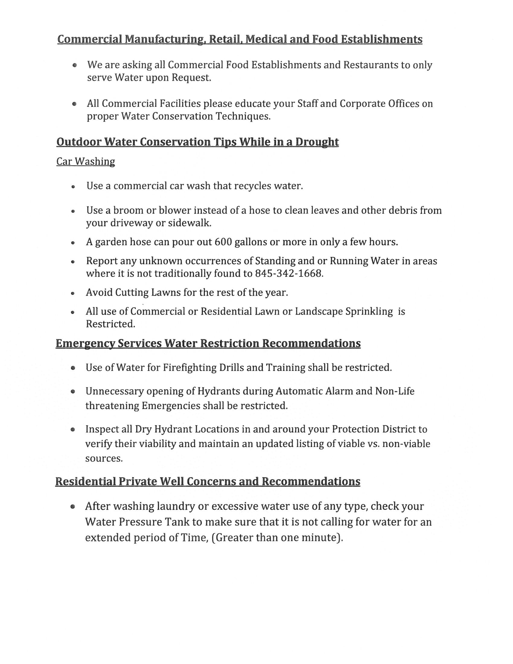 Voluntary Water Restrictions 3