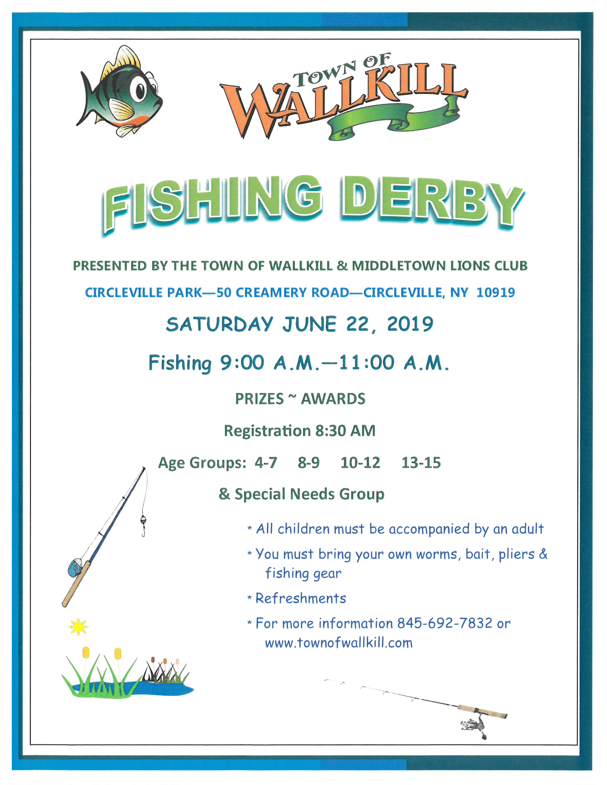 Fishing Derby Flyer 2019